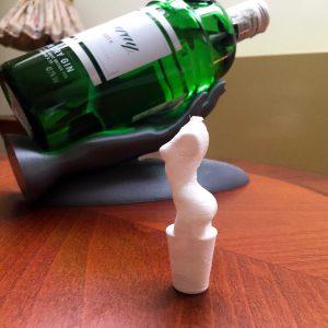 Dop pentru sticla de vin, cu personalitate – Printat 3D